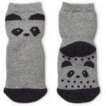 Nellie anti slip socks 2-pack - Panda grey melange